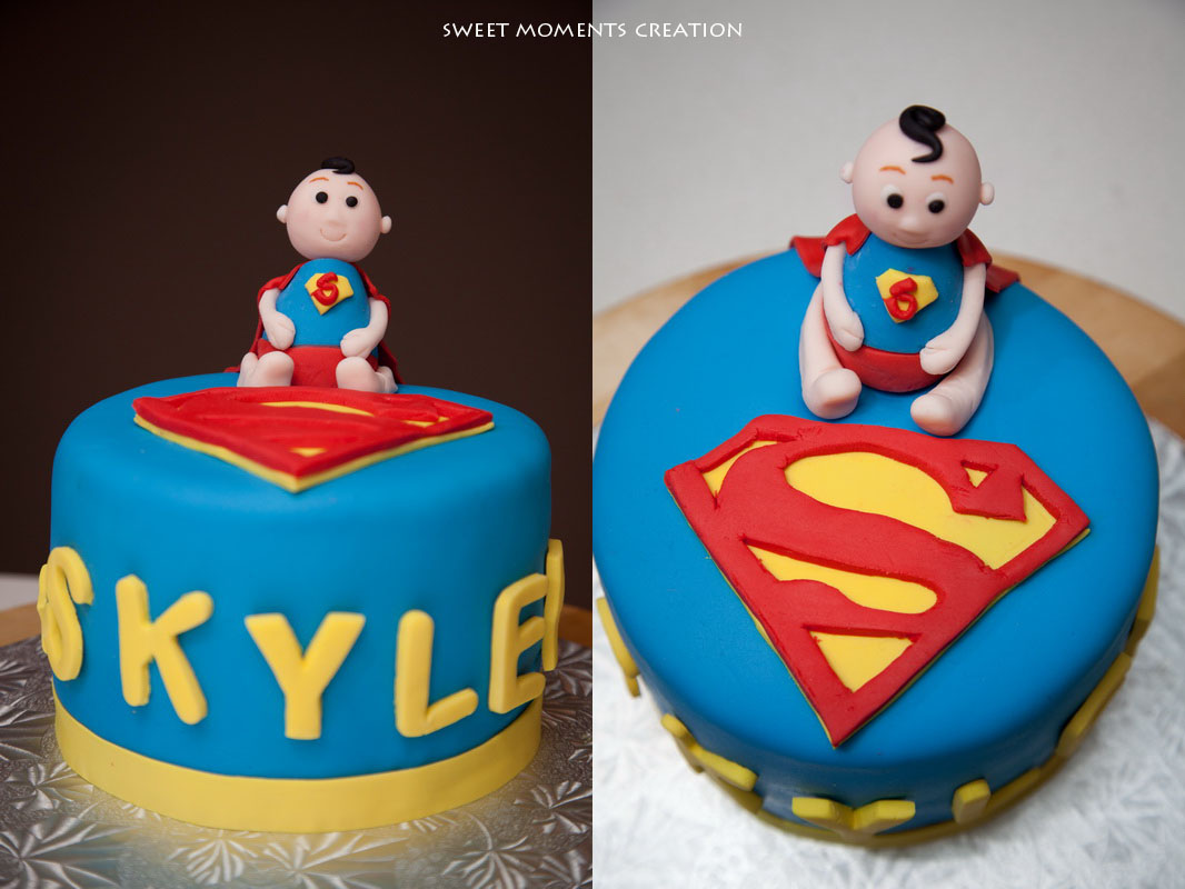 Enjoyable Superman Theme Kids Birthday Cake And Cupcakes Sweet Moments Funny Birthday Cards Online Eattedamsfinfo